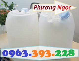 Can nhựa đựng hóa chất, can nhựa HDPE 20L, can nhựa vuông tròn màu trắng 5cd6f903be6e5930007f