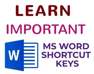 IMPORTANT MS WORD SHORTCUT