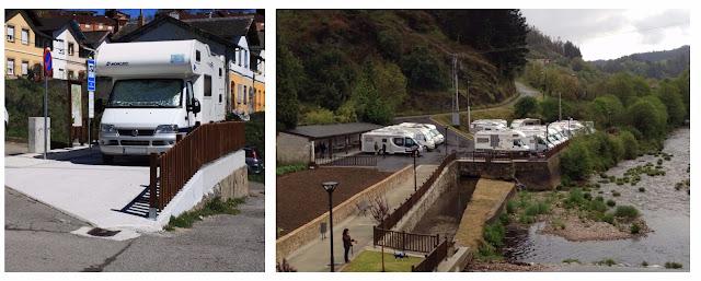 Área de autocaravanas de Navelgas, Asturias