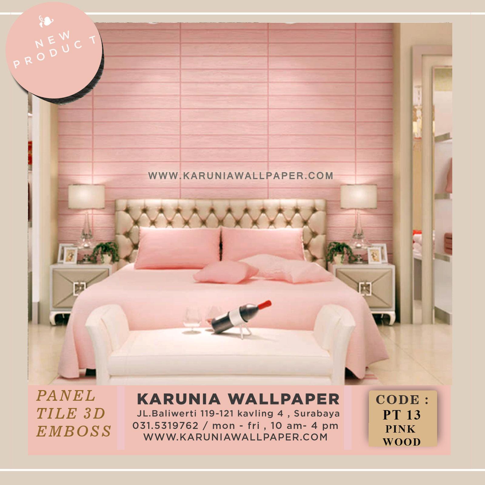 jual dinding kayu pink