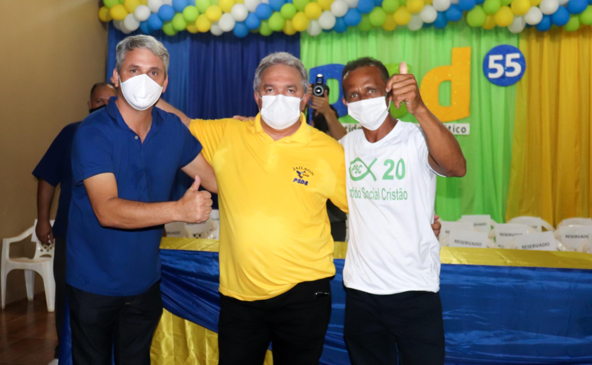 Chapa PSD-PSC oficializa candidatura que terá apoio do prefeito de Mojuí dos Campos