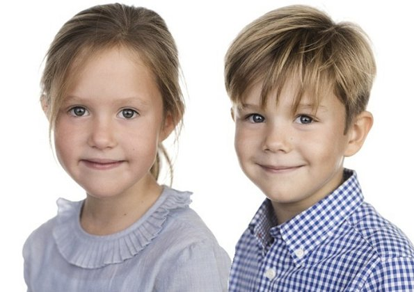 Danish Crown Princess Mary's twins Prince Vincent and Princess Josephine celebrate their seventh birthday