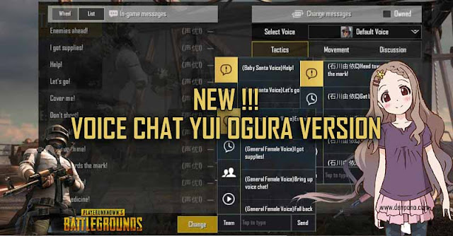Download Voice Chat Anime Yui Ogura untuk PUBG Mobile
