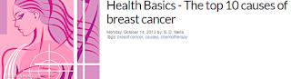 유방암 원인 10가지 - 건강의 기본