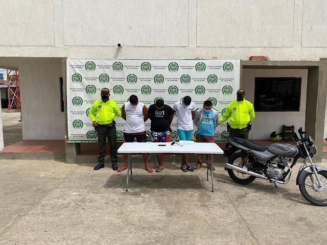 Ladrones de moto Los Pitufos cayeron en Maicao