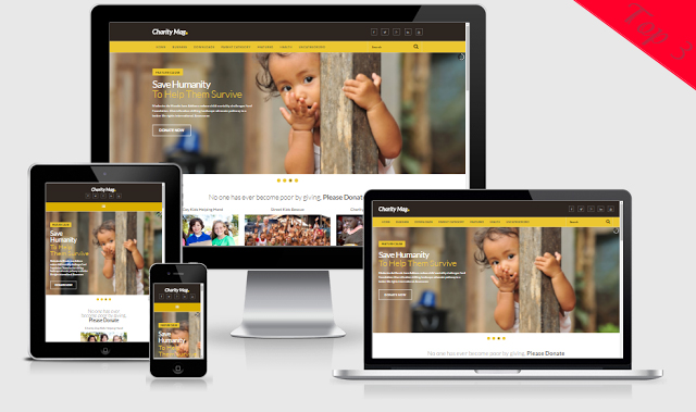 Charity Mag Template Blogger Landing Page