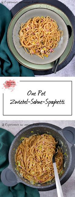 One Pot Zwiebel-Sahne-Spaghetti | Rezept | Kochen | Essen | Pasta | Feierabendküche | Weight Watchers