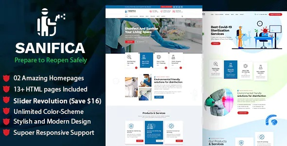 Best Sanitizing and Disinfection Services HTML Template