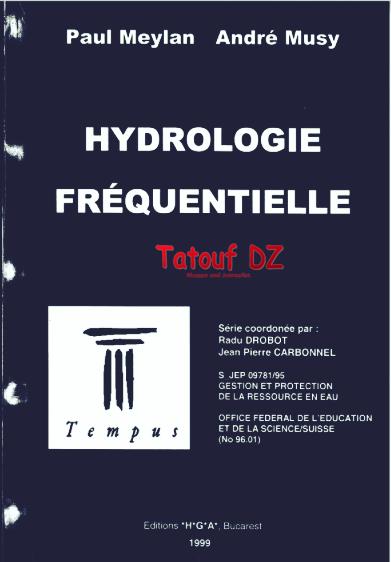 Livre : Hydrologie fréquentielle '' André Musy & Paul  Meylan'' en PDF