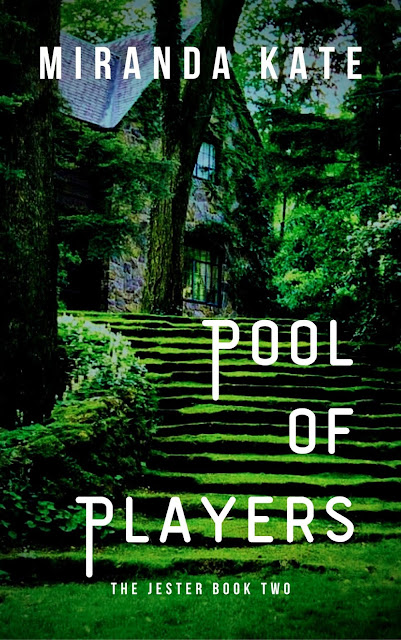 A book cover with a house on it, and grass covered steps into the garden
