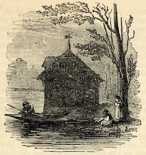 Boat house of the Royal Humne Society from  The story of the London Parks by J Larwood (1874)