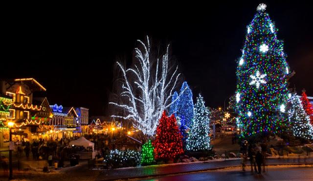 Leavenworth WA during Christmas