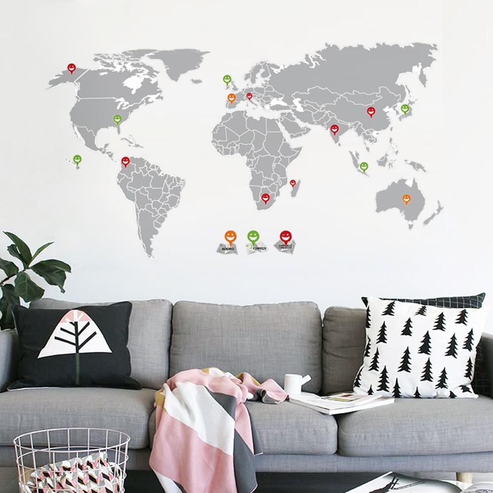 ambientes decorados com mapas 2 - A elegância dos Mapas na decoração de Ambientes