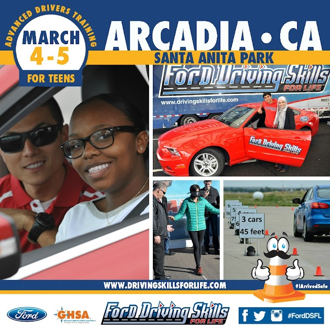 Ford's Teen Driving Safety Class Coming to Arcadia