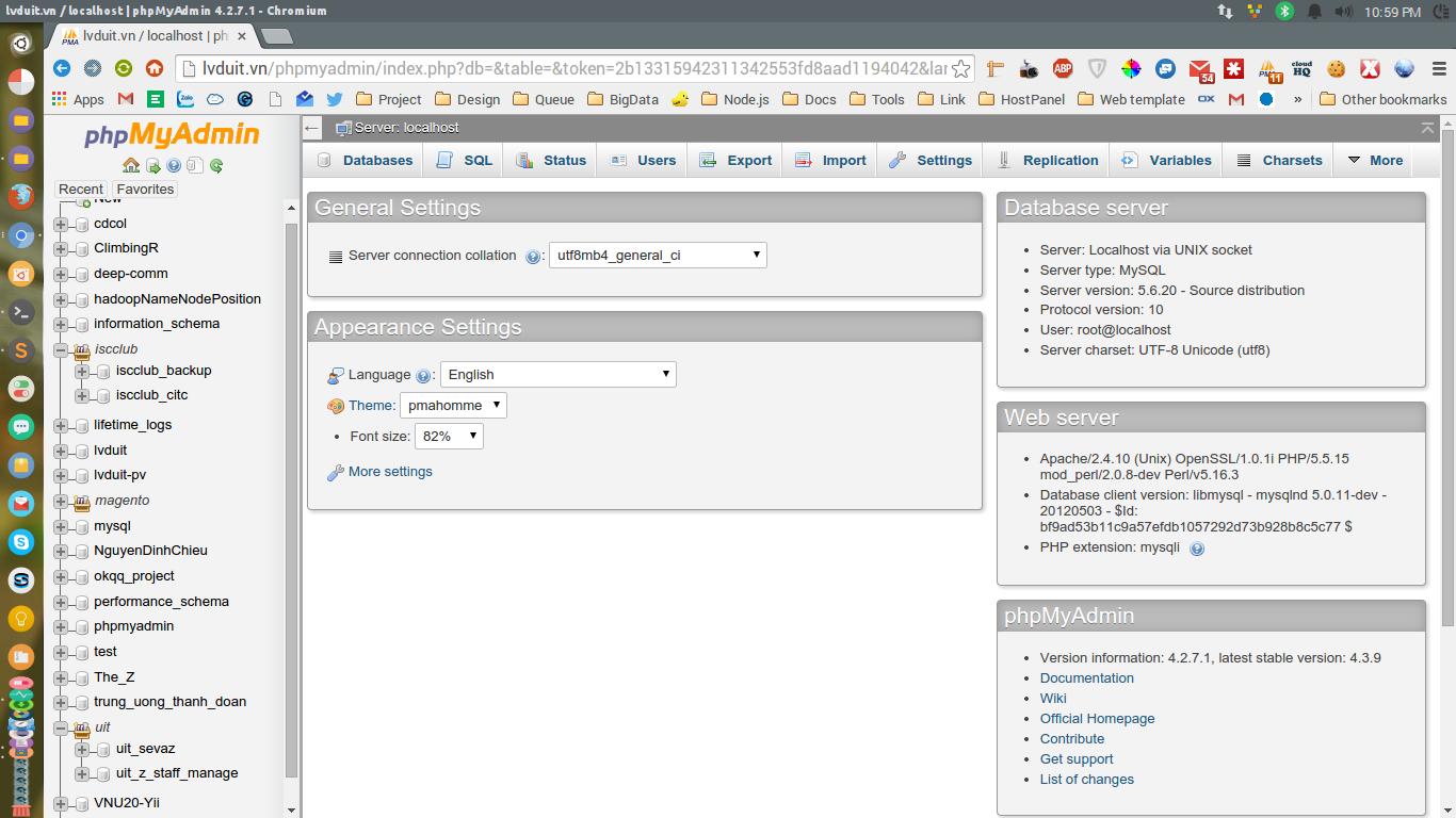 Giới thiệu, làm quen với phpMyAdmin - Hệ quản trị MySQL