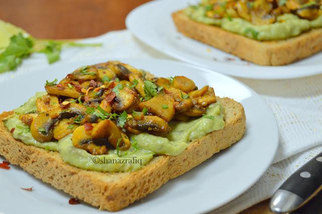 Avocado & Mushroom Breakfast Toast