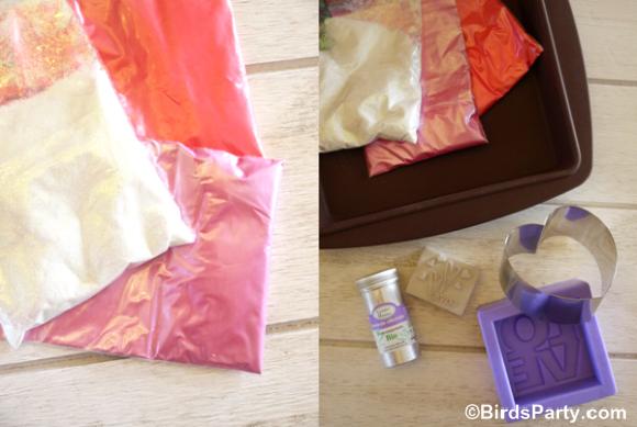 Easy DIY and Sparkly Heart Soap Handmade Gift - BirdsParty.com