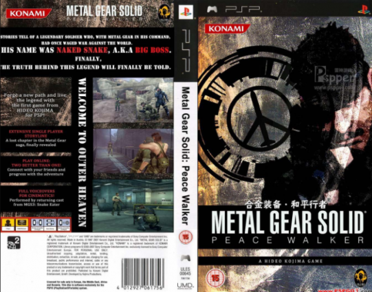 Download Game Metal Gear Solid Peace Walker PPSSPP PSP ISO Android