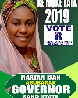 Maryam Isah Abubakar for governor Kano state