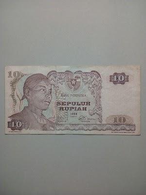 10 rupiah tahun 1968