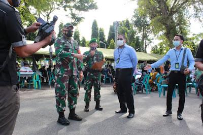 Kodim 0101/Aceh Besar gelar vaksinasi, pelaksanaan melebihi target yang direncanakan