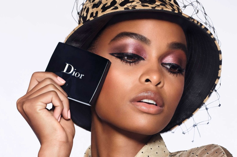 Blesnya Minher stars in Dior Diorshow 2020 makeup campaign.