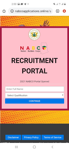NABCO application Portal