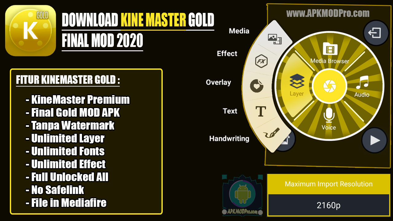 Download Download KineMaster Gold Final Mod Apk 2020