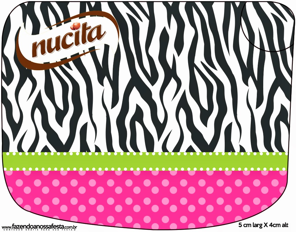 Free Printable  Zebra and Pink M&M Candy Bar Labels.