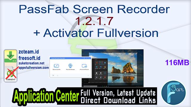 PassFab Screen Recorder 1.2.1.7 + Activator Fullversion