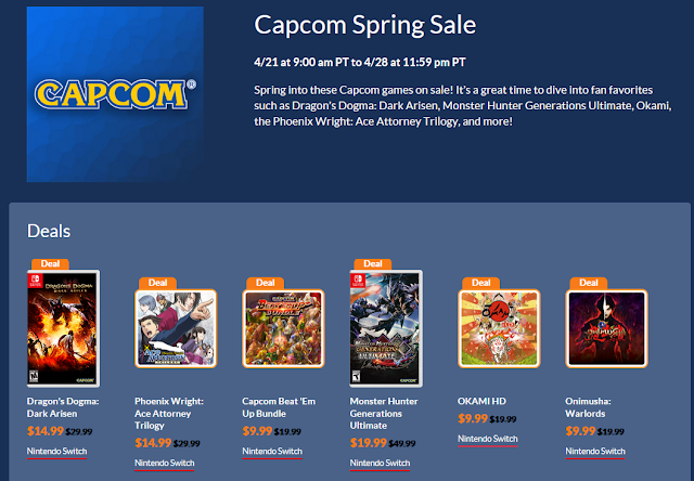 CAPCOM Spring Sale 2020 Nintendo eShop Phoenix Wright Ace Attorney Trilogy