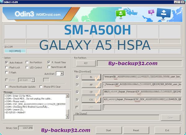 سوفت وير هاتف GALAXY A5 HSPA موديل SM-A500H روم الاصلاح 4 ملفات تحميل مباشر