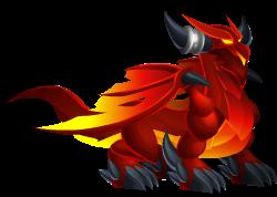 imagen del dragon calor de dragon city