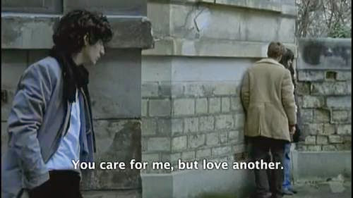 """You care for me, but love another."""