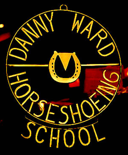 Danny Ward Horseshoeing School sign