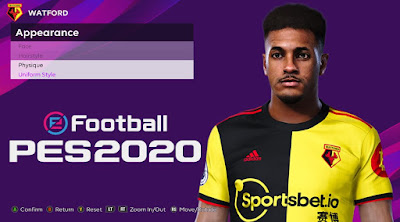 PES 2020 Faces Andre Gray by Rachmad ABs