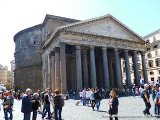 Pantheon Passeios portugues Guia brasileira Roma - Roma em um dia - Roma Clássica e Basílica de São Pedro