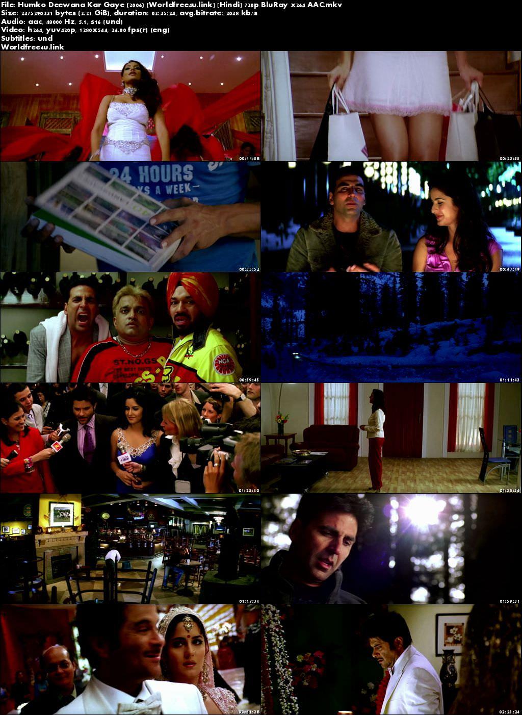 Screen Shoot of Humko Deewana Kar Gaye 2006 Full Hindi Movie Download BRRip 720p Watch Online In Hd