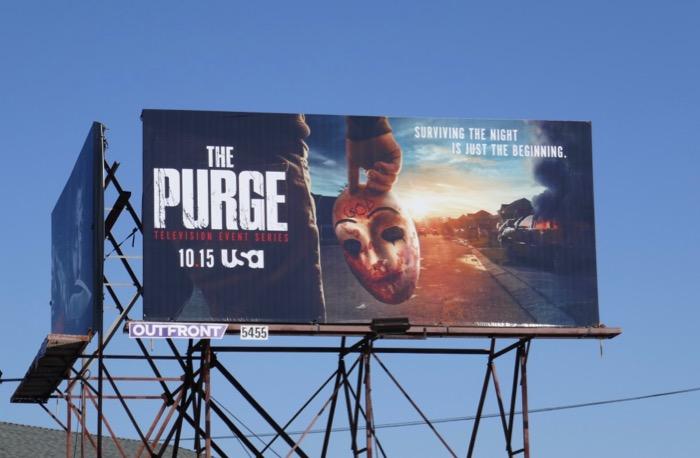 The Purge season 2 billboard