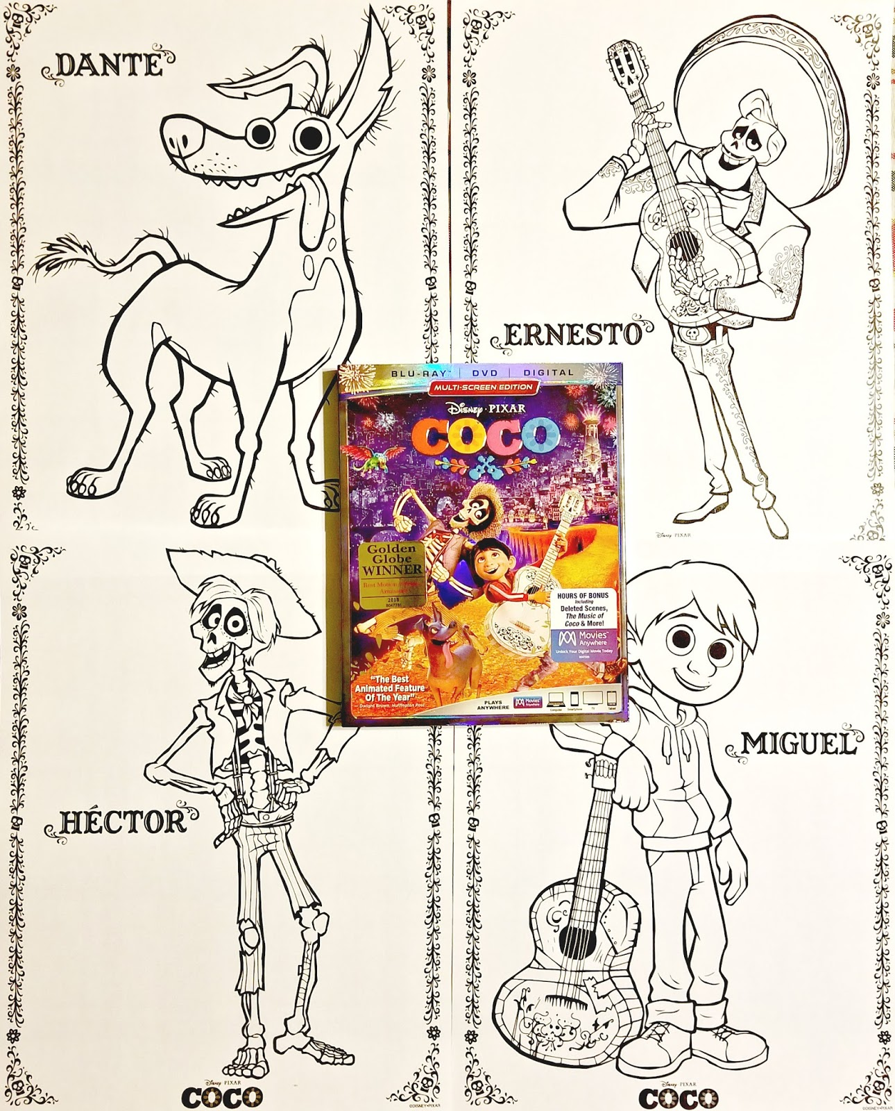 Disney•Pixar's COCO Coloring Pages and Activity Sheets | It's A ... | 1600x1290