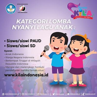 Lomba Cipta Lagu dan Menyanyi oleh KILA Indonesia