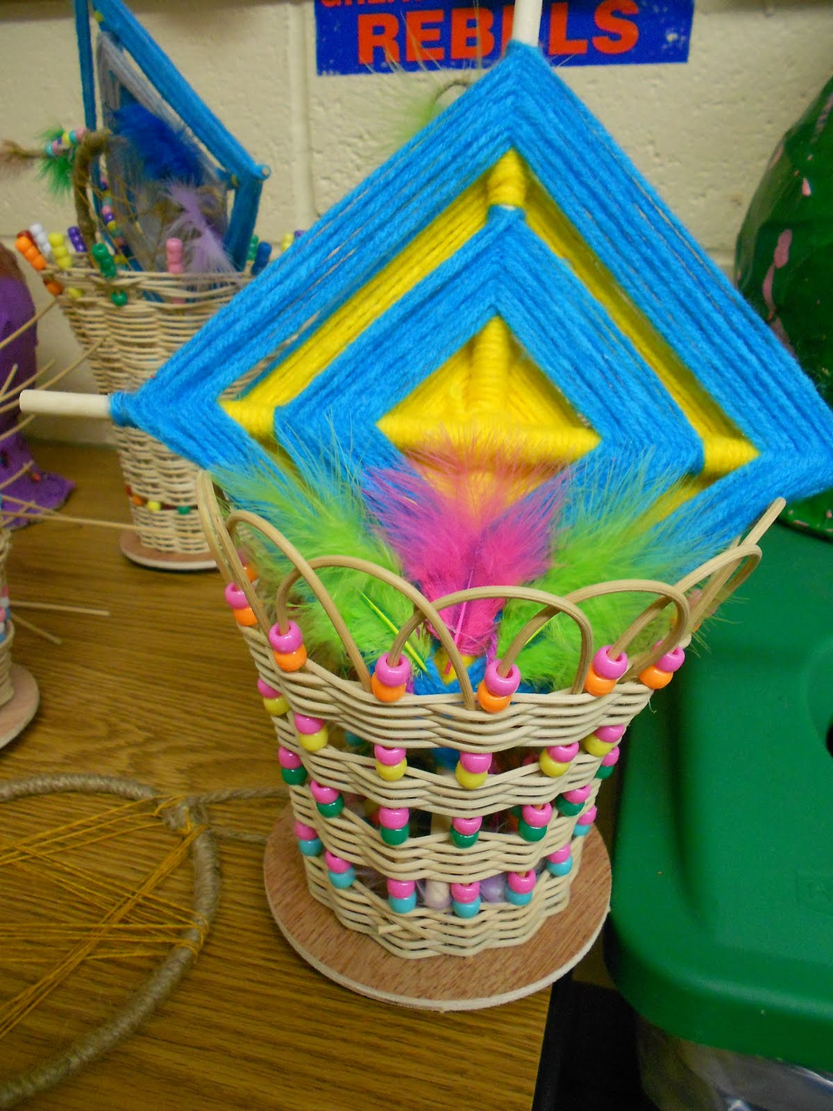 Basket Weaving For Elementary Students : Rd craft project completed basket weaving artmuse