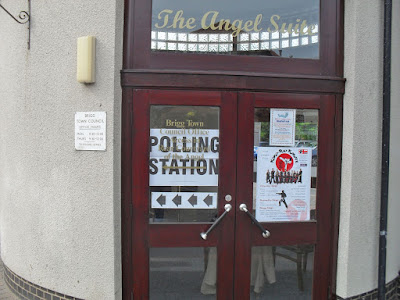 ELECTIONS 2019: One of the polling stations in Brigg - at the Angel Suite in the town centre