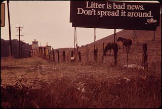 Photo of anti-litter billboard