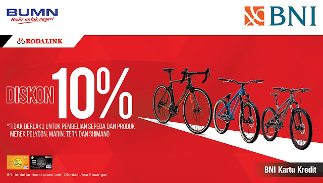 #BankBNI - #Promo Diskon 10% Pembelian Sepeda di Rodalink (s.d 31 Des 2019)