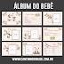 Álbum do bebê ursinha para imprimir e montar para seu uso pessoal