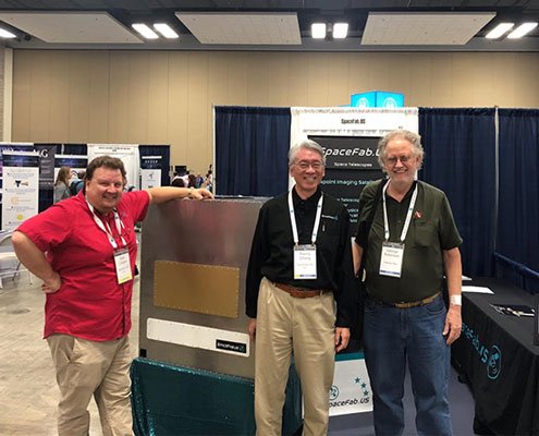 Meeting up with Sean and Randy of SpaceFab.us on the 235th AAS Exhibit Floor (Source: Palmia Observatory)