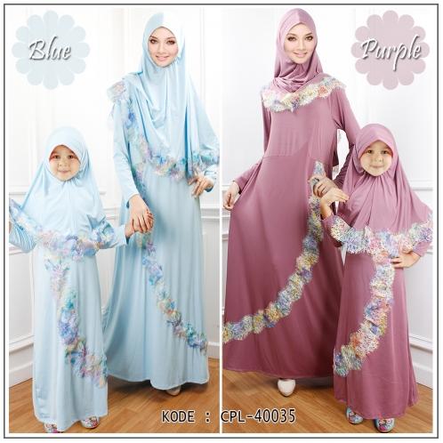 jubah anak biru dan ungu