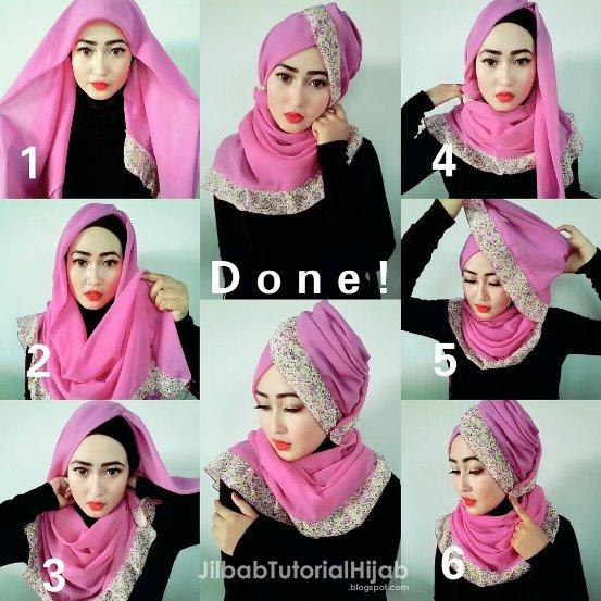 12 Tutorial Hijab Segi Empat Edisi Lebaran untuk Para Hijabers yang ... 7cf9962b67