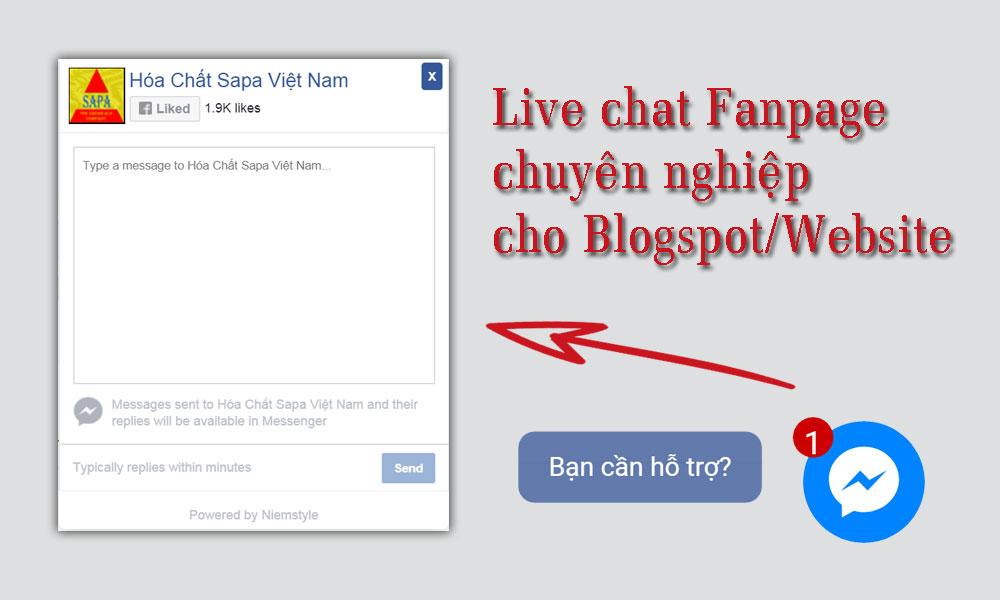 Tạo live chat fanpage chuyên nghiệp cho blogspot hoặc website